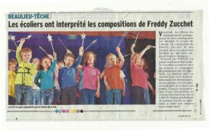 Freddy Zucchet, spectacle école